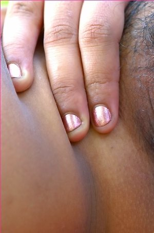big tits,close up,hairy pussy,hot,jam jaminga,nude,outdoor,posing,pussy,solo girl,spreading,
