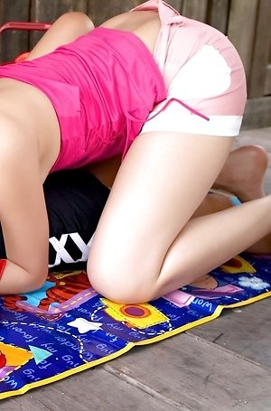asian lesbians,close up,double dildo,hairy pussy,mind sumonrat,mona choi,nude,teen,