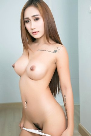 beautiful, big tits, cute asian, hairy pussy, hannah, long hair, pussy, redhead, solo girl, spreading, tattoo,