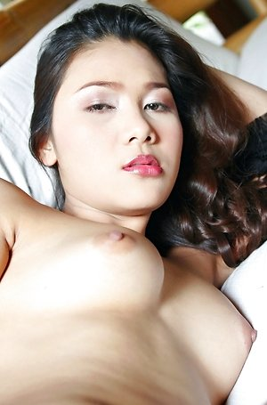 arisa sunaree,big nipples,black lingerie,hairy pussy,nude,pussy,solo girl,spreading,