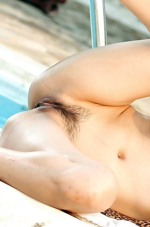 ass, asshole, big tits, hot, milf, nude, outdoor, pool, solo girl, spreading, tina tao,