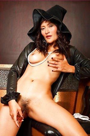 bella yong,big nipples,big tits,close up,glass dildo,hairy pussy,masturbation,milf,nude,sexy costume,